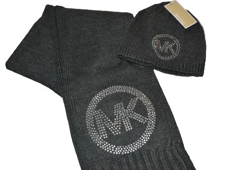 MICHAEL Michael Kors Michael Kors Set of Hat and Scarf Grey