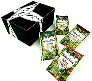 Walden Farms Calorie Free Dressings 4-Flavor Variety: One 1 oz Packet Each of Honey Dijon, Ranch, Italian, and Creamy Bacon in a Gift Box