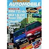 MONITEUR AUTOMOBILE (LE) [No 1111] du 11/07/1996 - BMW 725 TDS - MGF 1 VVC ET ROVER 200VI - CITROEN SAXO VTS -...