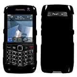 RIM BlackBerry 9100 (Pearl 3G) Solid Black Phone Protector Cover Case