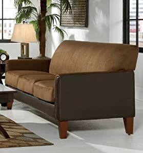 Mocha Dark Brown Microfiber Sofa By Home