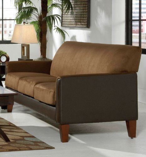 Mocha/Dark Brown Microfiber Sofa By Home Elegance