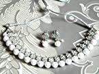 Necklace sets - silver and white