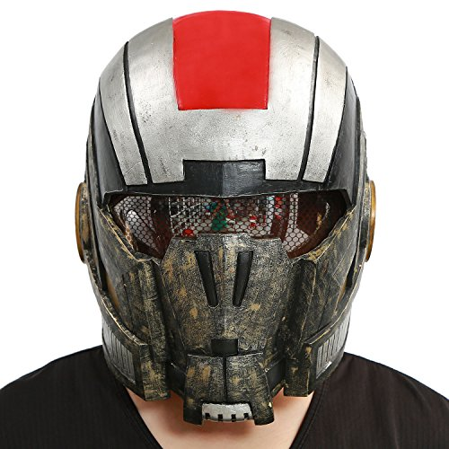 XCOSER® Adult N7 Helmet Full Head Mask Props Collection for Halloween Costume PVC Painted