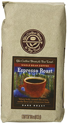 The Coffee Bean & Tea Leaf, Hand-Roasted Espresso Whole Bean Coffee, 12-Ounce Bags (Pack of 3) image