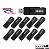 KOOTION 10 Pack 8GB USB Flash Drive 10pcs Thumb Drive-Bulk Pack- USB 2.0 Metal In Black