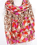 Salutto-Womens-Polyester-Voile-Scarf-Leopard-Pattern-Soft-Fashion-Scarves-Shawl-Wrap-Coffee