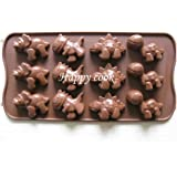 1 X Dinosaur Muffin Sweet Candy Jelly Ice Silicone Mould Mold Baking Pan Tray Make