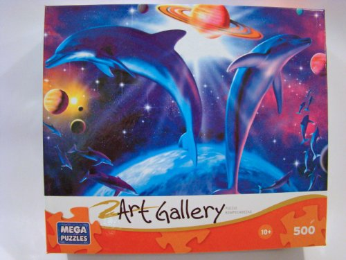 Art Gallery 500 Piece Jigsaw Puzzle: Astral Dolphins 5 - 1