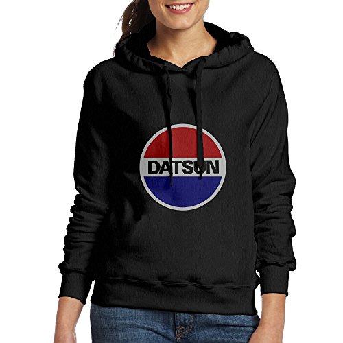 Lennakay Woman's Genuine Nissan Datsun Hooded Sweatshirt Black M (Datsun Hoodie compare prices)