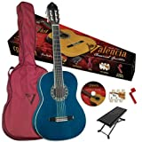 Valencia VG-CG1KBU 3/4 size Classical Guitar, High Gloss Blue Finish