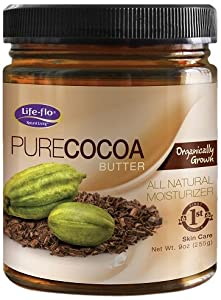 Life-Flo Organic Pure Cocoa Butter, 9-Ounce