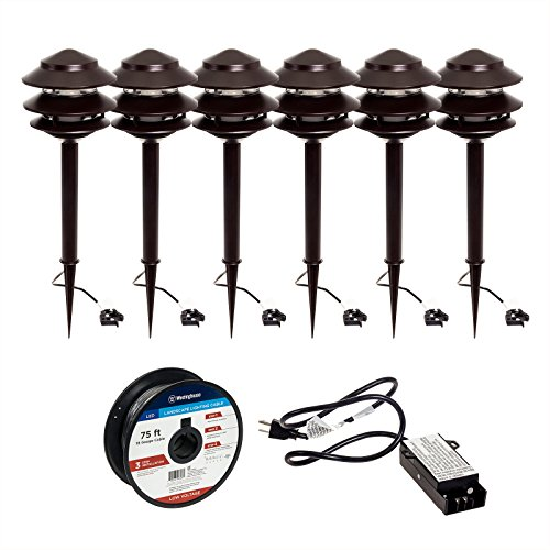 Westinghouse Low Voltage LED Path Light & Transformer 8 Piece Set (Bronze) (Low Voltage Outdoor Lighting Sets compare prices)
