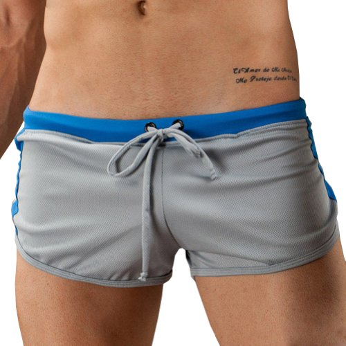 Men G-cup String Boxer Shorts Size M Color Gray