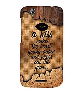 A Kiss Makes The Heart Young 3D Hard Polycarbonate Designer Back Case Cover for Acer Liquid Zade Z630 : Acer Liquid Zade Z630S