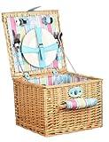 Summerhouse 2 Person Wicker Picnic Basket