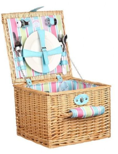 Summerhouse 2 Person Wicker Picnic Basket