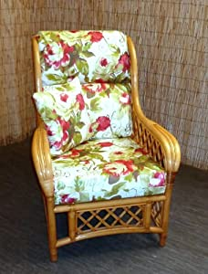 Replacement Cushion Covers for Cane Wicker and Rattan Conservatory and Garden Furniture - Red Rose by Zippy UK