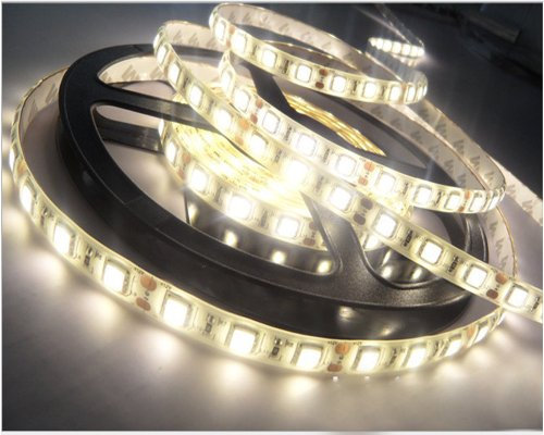 Happy Hours Warm White 1-30M 3528 Smd 60 Leds/M Led Strips Light Waterproof +12V Dc Adapter Pack Of 10M