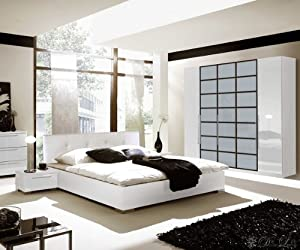 schlafzimmer betten komplett schlafzimmer matteo weiss. Black Bedroom Furniture Sets. Home Design Ideas