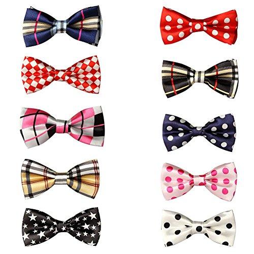 GOGO Pet Bow Tie Collar, Pet Supplies, 10 PCS Assorted SET4