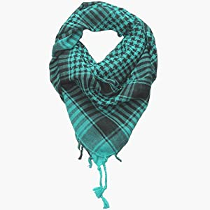 Turquoise Blue Desert Scarf  Try these trendy desert scarves  Shemagh  Keffiyeh