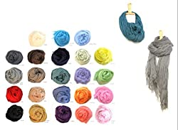Solid Summer Light Weight Rayon Scarf - Colors Available