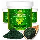 Spirulina Powder: MAJU's California Grown, Non-GMO, Non-irradiated, Vegan Friendly, Gluten-free, Protein & Vitamin Rich Super Algae