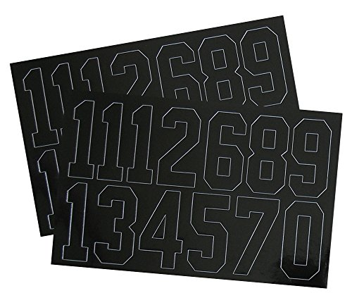 A&R Sports Number Decals, 2-Inch, Black (Decal Numbers Kids compare prices)