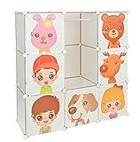 Kinder Kleiderschrank Garderoben Flur Schrank Badschrank Kinderschrank in Weiß Transparent
