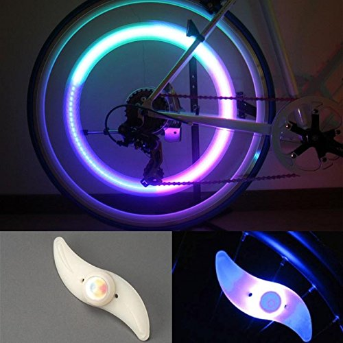 Zps(Tm) Car Motorcycle Cycling Bike Bicycle Tire Wheel Valve Led Flas Light (Colorful)