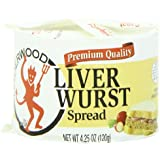 Underwood Liver Wurst Spread, 4.25-Ounce Cans (Pack of 24)