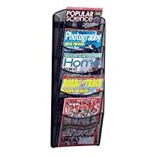 Safco Products Onyx Mesh Magazine Rack, 5 Pocket, Black, 5578BL