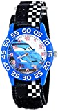 Disney kids' W001196 Time Teacher Cars Watch With Checkerboard Nylon Band