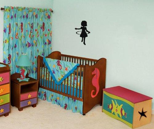 Wall Vinyl Decal Sticker Decor Children Little Girl Twisting Hoop Nursery Home Room Interior Art Mural Room Kj1189