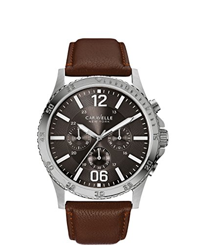 Caravelle New York Men'S 43A128 Analog Display Analog Quartz Brown Watch
