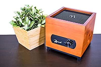Mammoth Air Purifier Q3 Real Wood Desktop 7 Stage Purification with Adjustable Fan Speed, Cherry