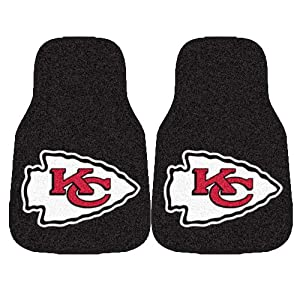 FANMATS NFL Kansas City Chiefs Nylon Face Carpet Car Mat by Fanmats