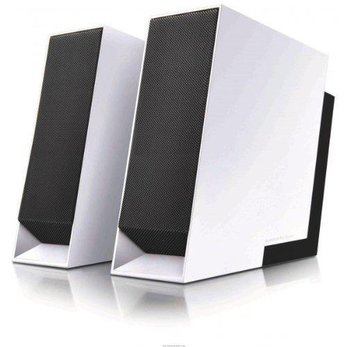 Edifier Prime USB, 2.0-Soundsystem mit 2x 5W Satelliten, inklusive Tragetasche, weiß/schwarz