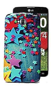 ECellStreet Sparkle Printed Soft Back Case Cover Back Cover For LG G Pro Lite D685 - Stars