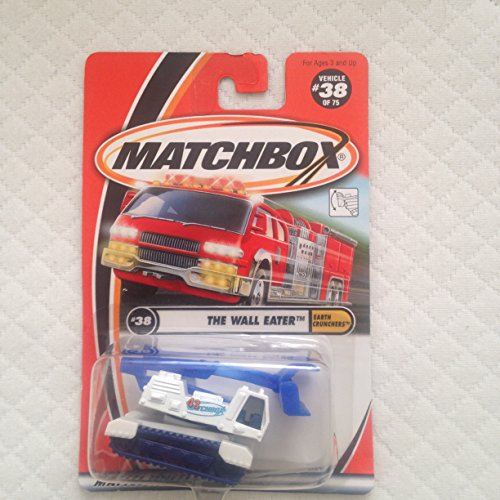 Matchbox 2000-38 Earth Crunchers The Wall Eater White & Blue 1:64 Scale - 1