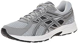 ASICS Men\'s Gel Contend 3 Running Shoe, Light Grey/Titanium/Black, 9.5 4E US