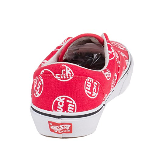 Vans x Supreme Mens Era (Supreme FE) F*ck Em! Red Canvas Skateboarding vans metallica kill em all