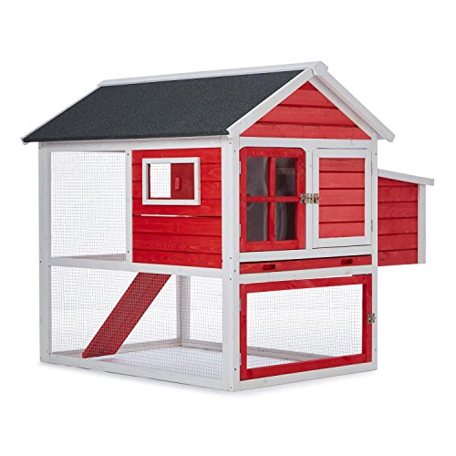oneconcept villa gallo h hnerstall holz h hnerhaus f r 2 h hner 120x122x127 5 cm winterfest. Black Bedroom Furniture Sets. Home Design Ideas