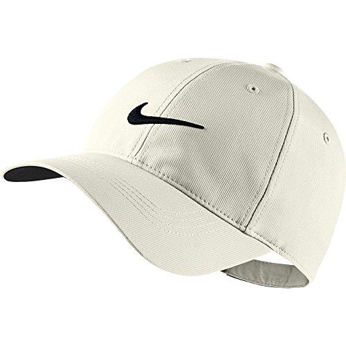 New Nike Mens Golf Legacy91 Tech Adjustable Hat Kap White