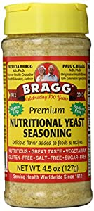 Bragg Nutritional Yeast Seasoning, Premium, 4.5 Ounce