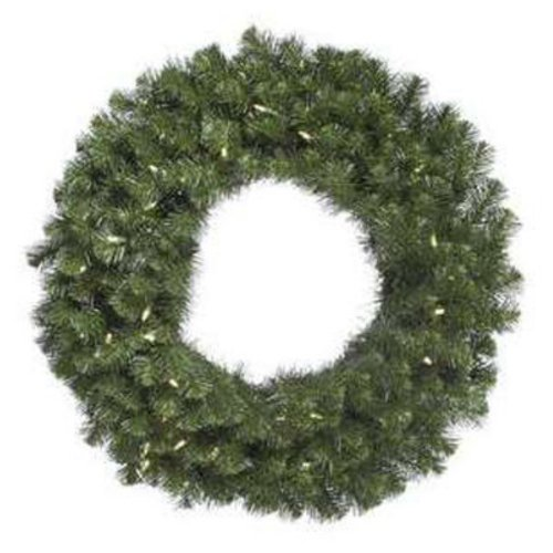 "Vickerman 31051 - 84"" Douglas Fir 400 Warm White Italian Led Lights Christmas Wreath (A808884Led)"