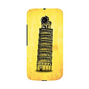 Skintice Designer Back Cover with direct 3D sublimation printing for Moto G (2nd Gen)