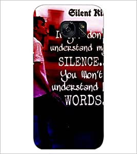 PrintDhaba Quote D-2871 Back Case Cover for SAMSUNG GALAXY S7 (Multi-Coloured)
