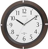 CITIZEN (シチズン) 掛時計 リバライトF460 電波時計 暗くなるとライトが点灯 8MY460-006